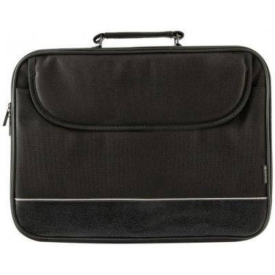 """Сумка для ноутбука Ascetic 15""""-16"""" черный, жесткий каркас, карман"""