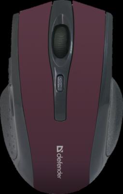 НОВИНКА. Беспроводная оптическая мышь Accura MM-665 красный,6 кнопок, 800-1600 dpi