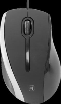 НОВИНКА. Проводная оптическая мышь MM-340 черный+серый,3 кнопки,1000 dpi