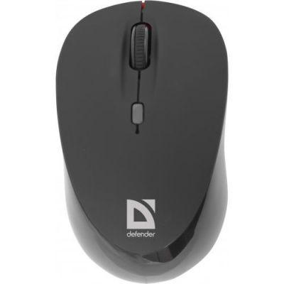 Беспроводная IR-лазерная мышь Dacota MS-155 черный,4 кнопки,1000-2000 dpi
