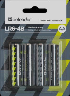 Батарейка алкалиновая LR6-4B AA, в блистере 4 шт