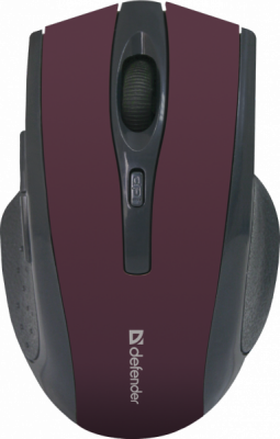 Беспроводная оптическая мышь Accura MM-665 красный,6 кнопок, 800-1600 dpi