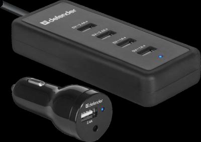 НОВИНКА. Автомобильный адаптер ACA-02 5 портов USB, 5V / 9.2A